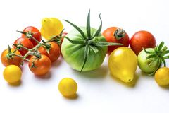 Red and yellow cherry tomatoes Royalty Free Stock Photos