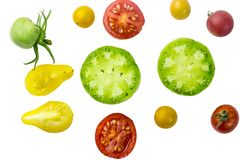 Red and yellow cherry tomatoes Stock Photography