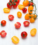 Red and yellow cherry tomatoes Stock Image