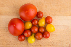 Red and yellow cherry tomatoes Stock Photos