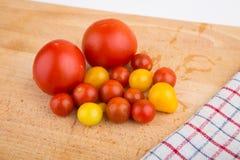 Red and yellow cherry tomatoes Stock Photo