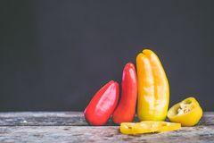 Red and Yellow Chili Royalty Free Stock Photo