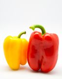 Red and yellow chilli peppers Royalty Free Stock Photos