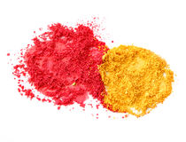 Red and yellow color powder Royalty Free Stock Images