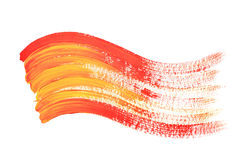 Red and yellow colour wave Stock Image