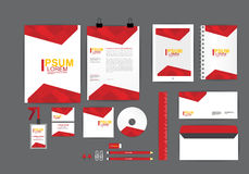 Red and yellow corporate identity template  for your business Royalty Free Stock Photography
