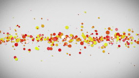 Red and yellow cubes floating Stock Photo