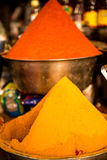Red and yellow curry from India. Street food Royalty Free Stock Images