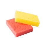 Red And Yellow Dish Washing Sponge II Stock Photography