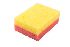 Red And Yellow Dish Washing Sponge III Stock Photos