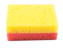 Red And Yellow Dish Washing Sponge IV Stock Image