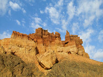 Red and yellow dry stone rock formations Royalty Free Stock Photo