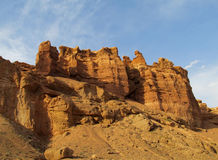 Red and yellow dry stone rock formations Stock Photos