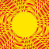 Red, yellow duotone spiral background. Circular geometric patter. N - Royalty free vector illustration Stock Images
