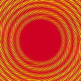Red, yellow duotone spiral background. Circular geometric patter. N - Royalty free vector illustration Royalty Free Stock Images