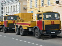 Red-yellow emergency truck Stock Image