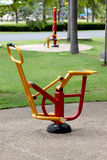 Red and yellow Exercise equipment. Stock Images