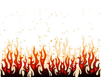 Red and yellow fire Royalty Free Stock Photos