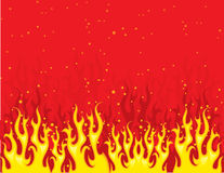 Red and yellow fire Stock Photography
