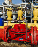 A red and  yellow fire emergency tap Stock Image
