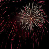 Red and yellow firework Royalty Free Stock Photography