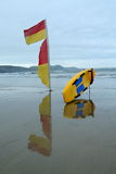 Red and yellow flag Royalty Free Stock Photos