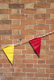 Red and Yellow Flags Royalty Free Stock Photos