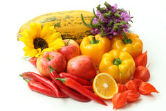 Red and yellow food,  Stock Photography