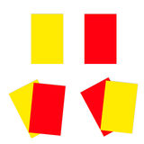 Red and yellow football soccer cards Royalty Free Stock Photo