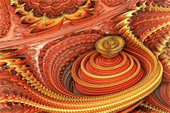 Red and yellow fractal royalty free stock photos