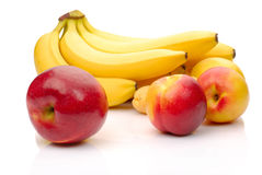 Red and yellow fresh fruits Stock Images