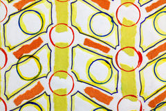 Red and yellow geometric pattern Stock Photography