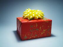 Red and Yellow Gift Wrap Royalty Free Stock Photos
