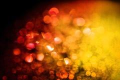 Red yellow glitter lights bokeh stock photography