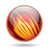 Red and Yellow Glossy Planet Sphere Royalty Free Stock Photo