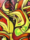 Red and yellow graffiti Royalty Free Stock Images