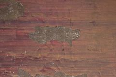 A red yellow gray old shabby wooden board with scratches and stains of paint. horizontal lines. rough surface texture. Red yellow gray old shabby wooden board stock images