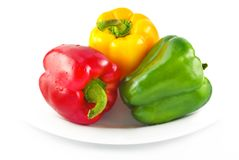Red Yellow Green Bell Peppers Royalty Free Stock Image