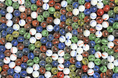 Red Yellow Green and Blue Marbles Royalty Free Stock Photo