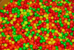 Red yellow green candy ball Stock Image