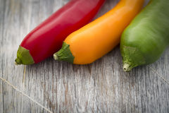 Red Yellow and Green Chilli Royalty Free Stock Images