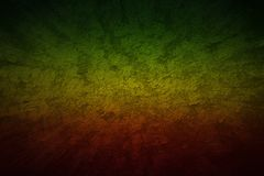 Red, Yellow, Green color reggae style. Grunge motion speed backg. Round blank for design stock photo