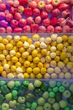 Red yellow and green fruits royalty free stock images