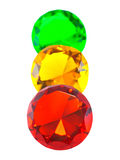 Red, yellow and green gemstones Royalty Free Stock Photography