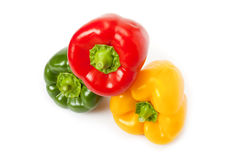 Red, yellow and green paprika Royalty Free Stock Image