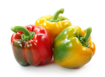Red, yellow and green paprika Royalty Free Stock Images