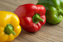 Red yellow and green paprika Royalty Free Stock Image