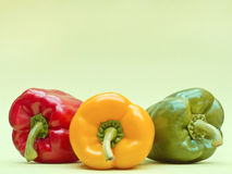 Bell Pepper Trio Stock Photography