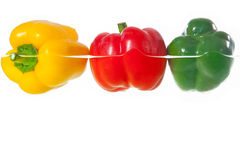 Red, yellow and green pepper Stock Photo