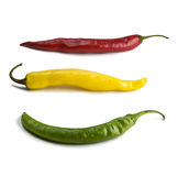 Red, yellow, green peppers Royalty Free Stock Images
